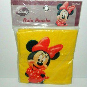 Disney Minnie Mouse adult size Yellow Rain Poncho